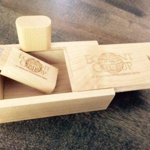 Wooden USB Box - Custom Slide off Cover Gift Box