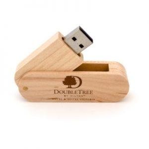 Wood Swivel USB - WU6 - Wood Memory Stick