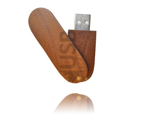 Wooden USB Swivel - WU6