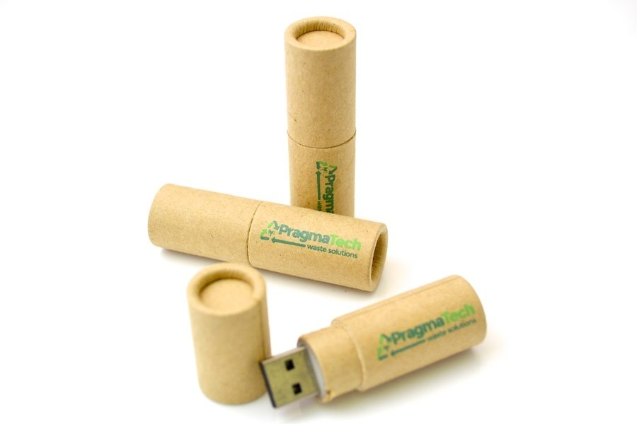 Kraft Paper USB - WU8 - Recycled Cardboard Flash Drive