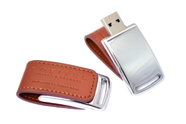 Leather USB Flash Drive - WU14