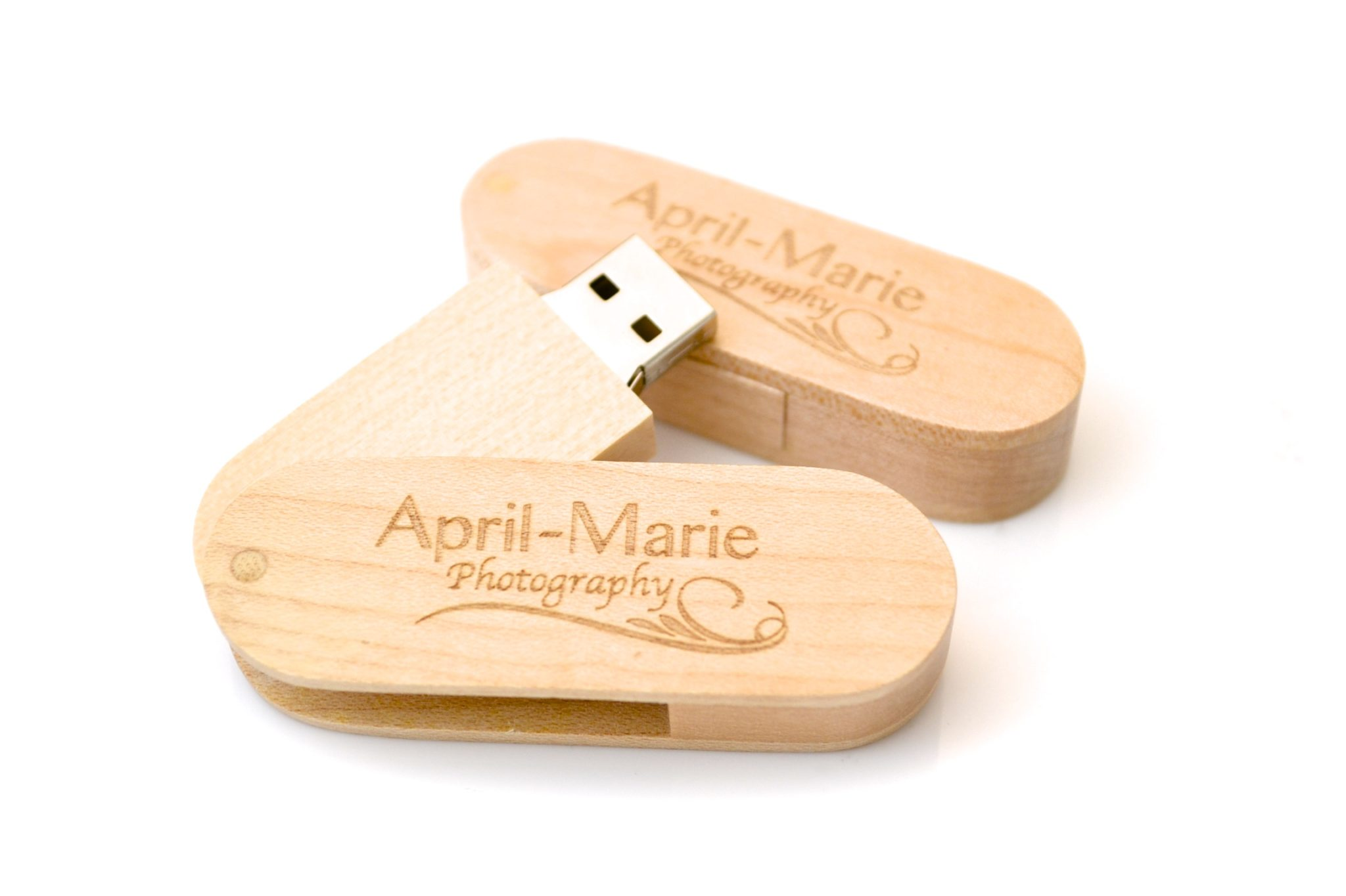 Wood Swivel USB - WU6 - Wooden Twister Memory Stick