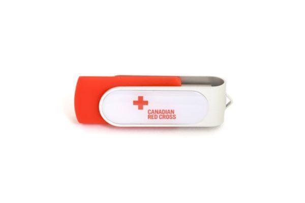 Domed Logo USB Swivel - UC10 - Twister USB with Sticker Logo