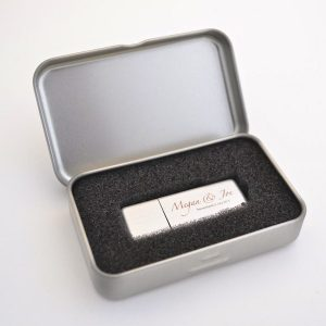 USB Tin Box (small with hinge)