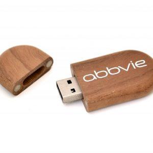 Oval Wooden USB Key - WU2