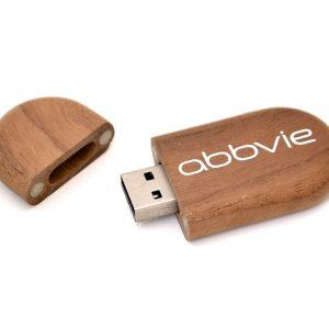 Oval Wooden USB Key